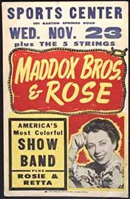 Maddox Brothers & Rose Photos SmRoseSportsPstr